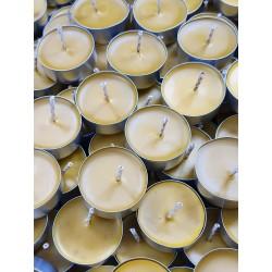 Zestaw 100 szt. - tealight, do podgrzewacza, świeca z wosku pszczelego