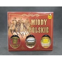 Zestaw prezentowy Miody Polskie (Jadwiga, Kurpiowski, Piastowski) APIS 3x250 ml