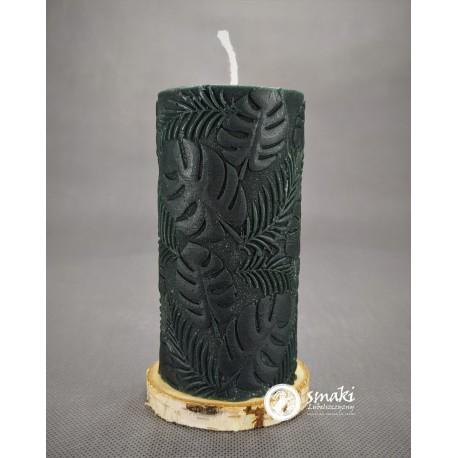 Świeca z wosku pszczelego 440 g MONSTERY kol. naturalny