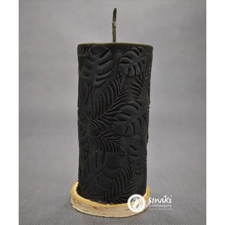 Świeca z wosku pszczelego 440 g MONSTERY kol. czarny