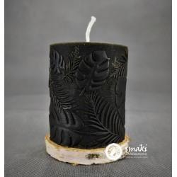 Świeca z wosku pszczelego 240 g MONSTERA MAŁA kol. czarny