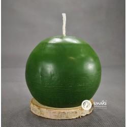 Świeca z wosku pszczelego 420 g KULA DUŻA kol. zielony