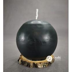 Świeca z wosku pszczelego 420 g KULA DUŻA kol. ciemny zielony