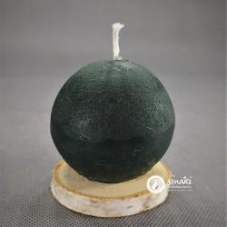 Świeca z wosku pszczelego 170 g KULA MAŁA kol. ciemny zielony
