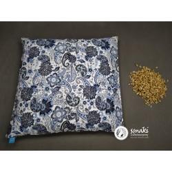 Poduszka 40x40cm ORKISZ wzór niebieskie kwiaty